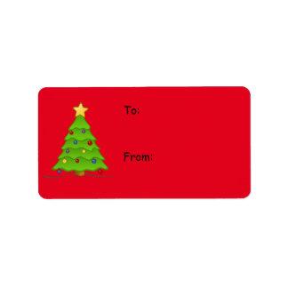 Weihnachtsaufkleber für Feriengeschenke, schaffen Adressaufkleber