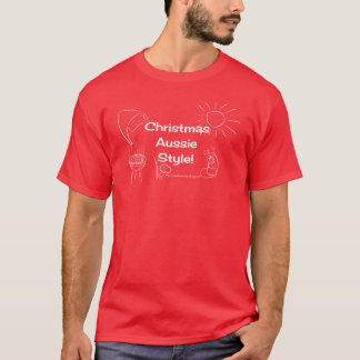 Weihnachtsaustralier-Art! weißes Bild T-Shirt