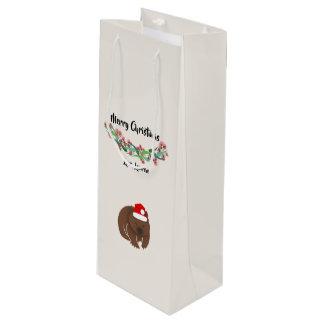 Weihnachtsaustralischer Tier-Entwurf Geschenktüte Für Weinflaschen