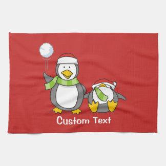 Weihnachtsausweitende Pinguine Handtuch