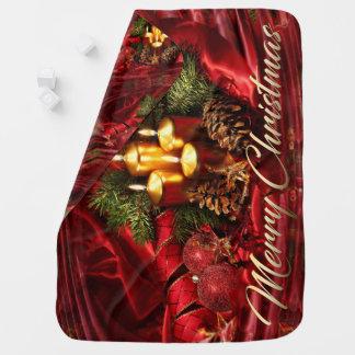 Weihnachtsbaby-Decke Kinderwagendecke