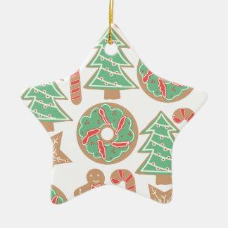Weihnachtsbacken-Druck Keramik Ornament