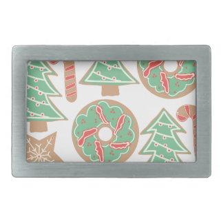 Weihnachtsbacken-Druck Rechteckige Gürtelschnallen