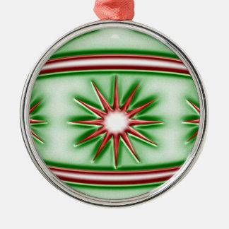 Weihnachtsball #8 rundes silberfarbenes ornament