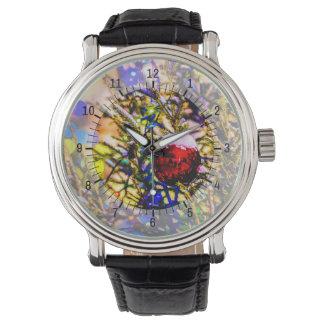 Weihnachtsball-Rot Armbanduhr