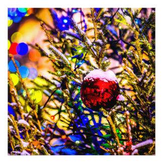 Weihnachtsball-Rot Fotodruck