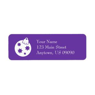 Weihnachtsball-Verzierungs-Adressen-Etiketten Rücksende Aufkleber