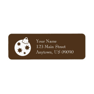 Weihnachtsball-Verzierungs-Adressen-Etiketten Rücksendeetikett