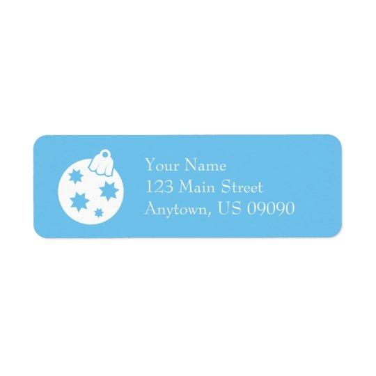 Weihnachtsball-Verzierungs-Adressen-Etiketten Rückversand-Adressaufkleber