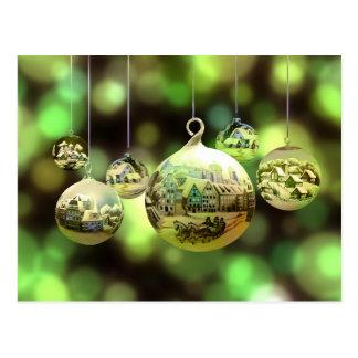 Weihnachtsballpostkarte Postkarte