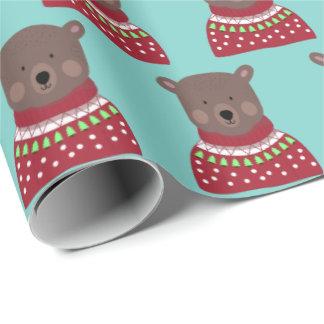 Weihnachtsbär Geschenkpapier