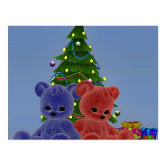 Weihnachtsbären 2 postkarte