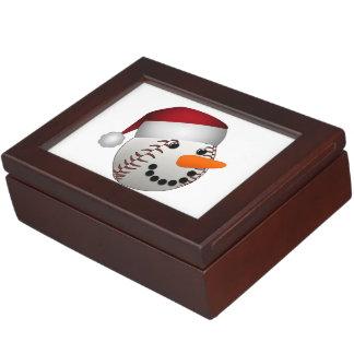 Weihnachtsbaseball-Schneemann Erinnerungsdose