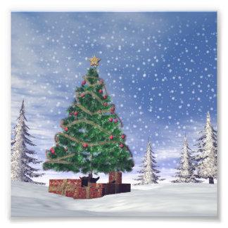 Weihnachtsbaum - 3D übertragen Fotodruck