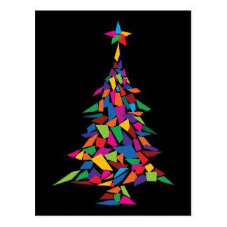 Weihnachtsbaum abstrakt postkarte