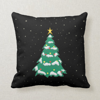 Weihnachtsbaum auf einem sternenklare kissen
