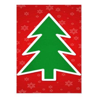 14 x 19 1 cm baum einladungen ank ndigungen und for Weihnachtsbaum fa r fensterbank