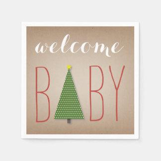 Weihnachtsbaum-Baby-Dusche - Cardstock Papierserviette