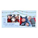 Weihnachtsbaum beleuchtet Feiertags-Karte Fotokarten