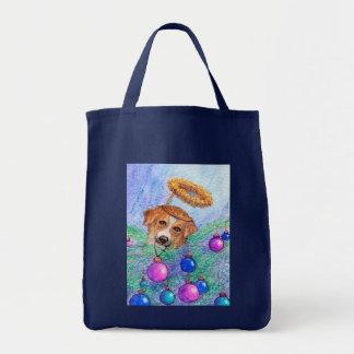 Weihnachtsbaum-Border-Colliehund (Fee) Tragetasche