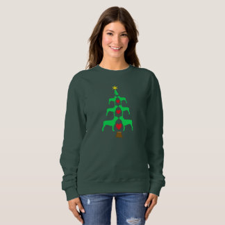 Weihnachtsbaum Bostons Terrier Sweatshirt