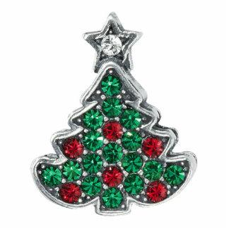 Weihnachtsbaum-Button Fotoskulptur Button
