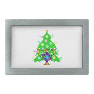 Weihnachtsbaum Chanukka Menorah Rechteckige Gürtelschnallen