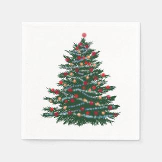 Weihnachtsbaum Cocktail-Papierservietten Serviette