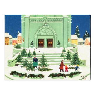Weihnachtsbaum, der 1988 verkauft postkarte