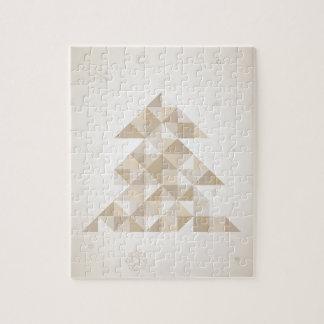 Weihnachtsbaum ein Dreieck Puzzle