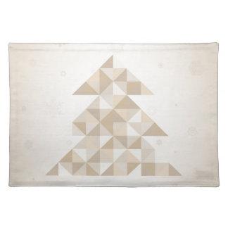 Weihnachtsbaum ein Dreieck Stofftischset