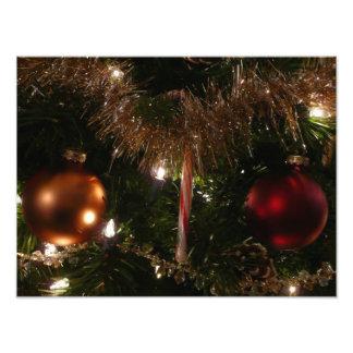 Weihnachtsbaum-Feiertags-Foto-Druck
