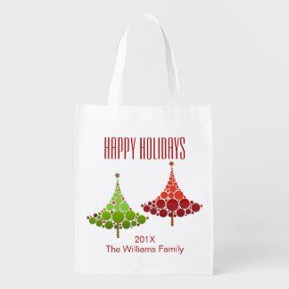 Weihnachtsbaum-Feiertags-kundengerechte Wiederverwendbare Einkaufstasche