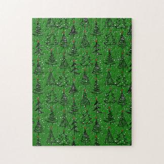 Weihnachtsbaum-Feiertags-Muster Puzzle