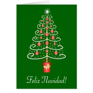 Weihnachtsbaum Feliz Navidad Spanisch-Weihnachten Karte