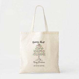 Weihnachtsbaum-Fingerabdruckgeschenk-Taschentasche Tragetasche