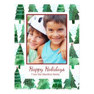 Weihnachtsbaum-Foto-Gruß Postkarte