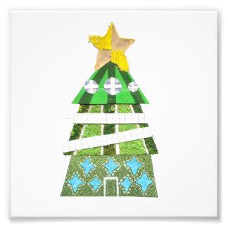 Weihnachtsbaum-Foto-Plakat Fotodruck