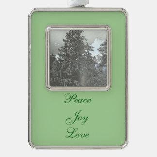 Weihnachtsbaum-Foto Rahmen-Ornament Silber