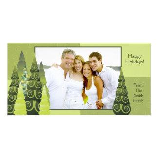 Weihnachtsbaum-Fotokarte Bild Karte