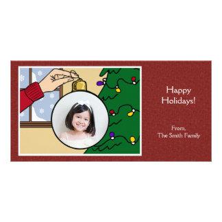 Weihnachtsbaum-Fotokarte Photo Karten Vorlage