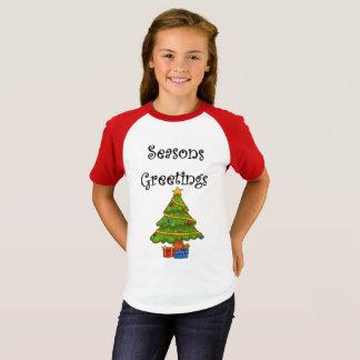 Weihnachtsbaum-Frohe Festtage T-Shirt