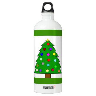 Weihnachtsbaum (frohe Weihnachten) Aluminiumwasserflasche