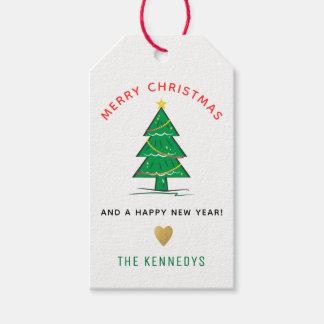 Weihnachtsbaum-frohe Weihnachten Geschenkanhänger