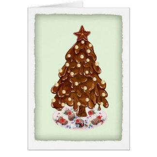 Weihnachtsbaum für Tauben-Schokoladen-Entdeckungen Karte