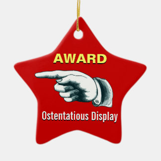 Weihnachtsbaum-Gag-Geschenk Keramik Stern-Ornament