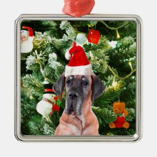 Weihnachtsbaum-Geschenkboxen-Weihnachtsmannmütze Silbernes Ornament