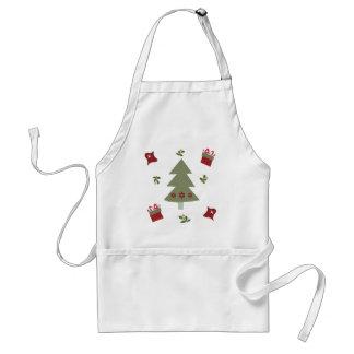 Weihnachtsbaum-Geschenke und Stechpalme Schürze