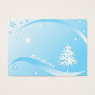 Weihnachtsbaum - Geschenkumbaukarte Visitenkarte