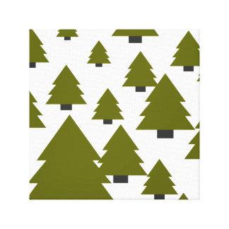 Weihnachtsbaum-Grafik Leinwanddruck